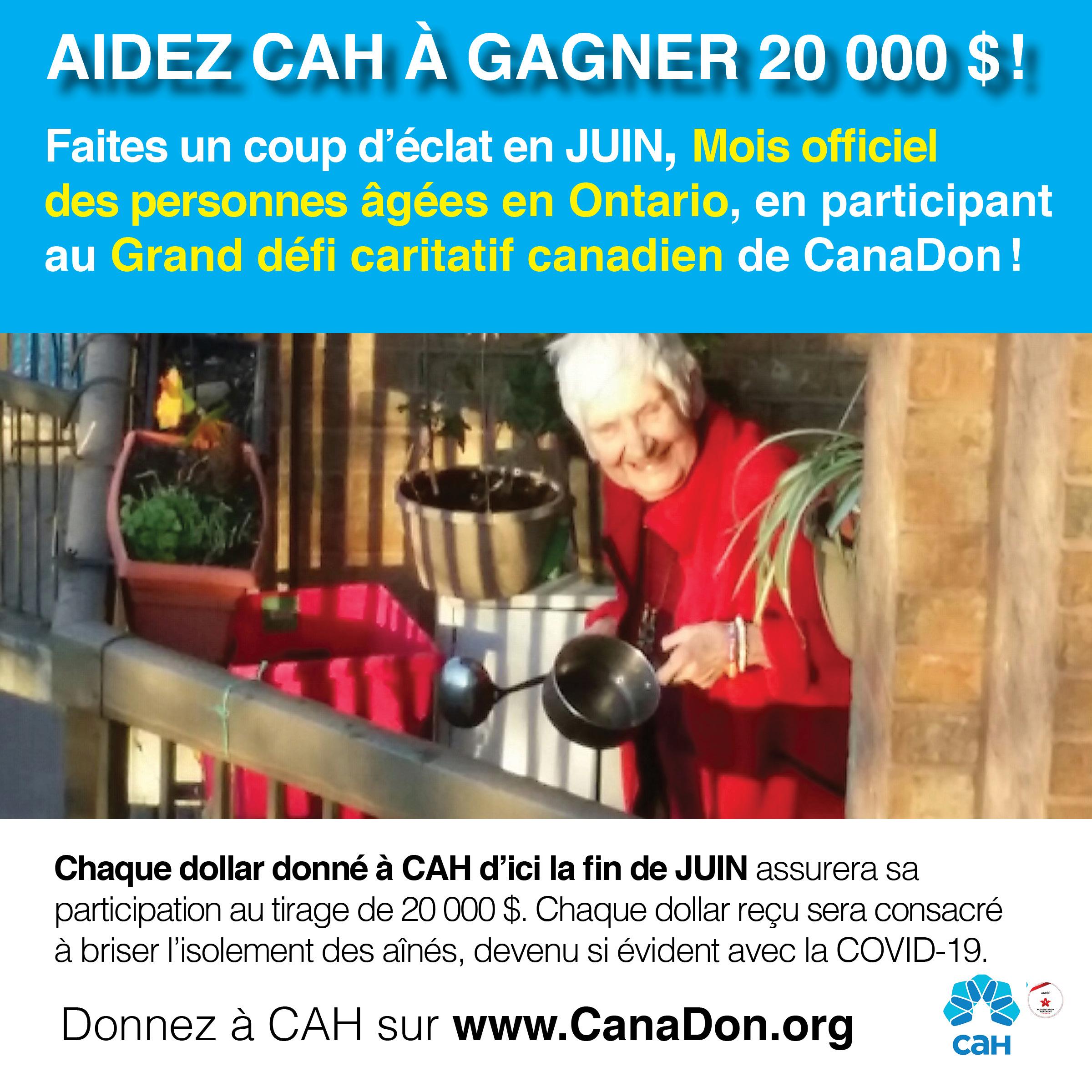 Le grand défi CARITATIF canadien de CanaDon.org