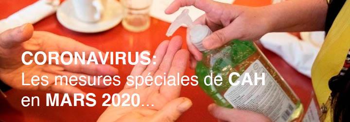 Coronavirus: Les mesures de CAH en mars 2020