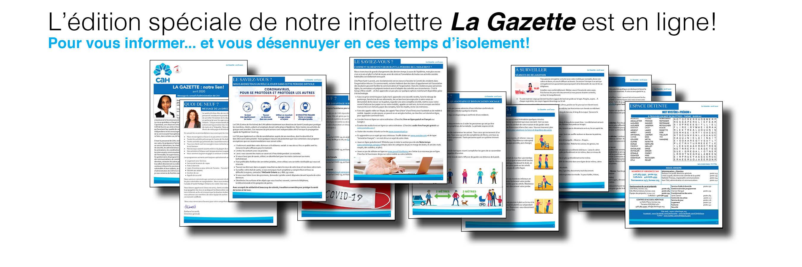 L'édition spéciale de La Gazette AVRIL 2020 est en ligne
