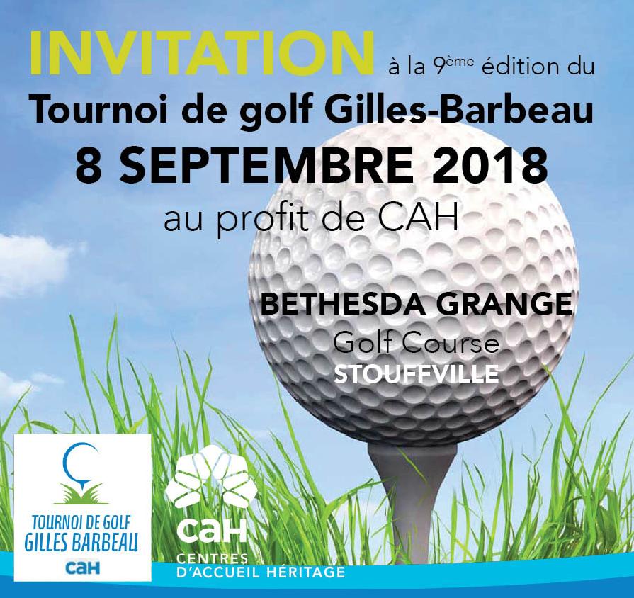 Tournoi de golf Gilles-Barbeau