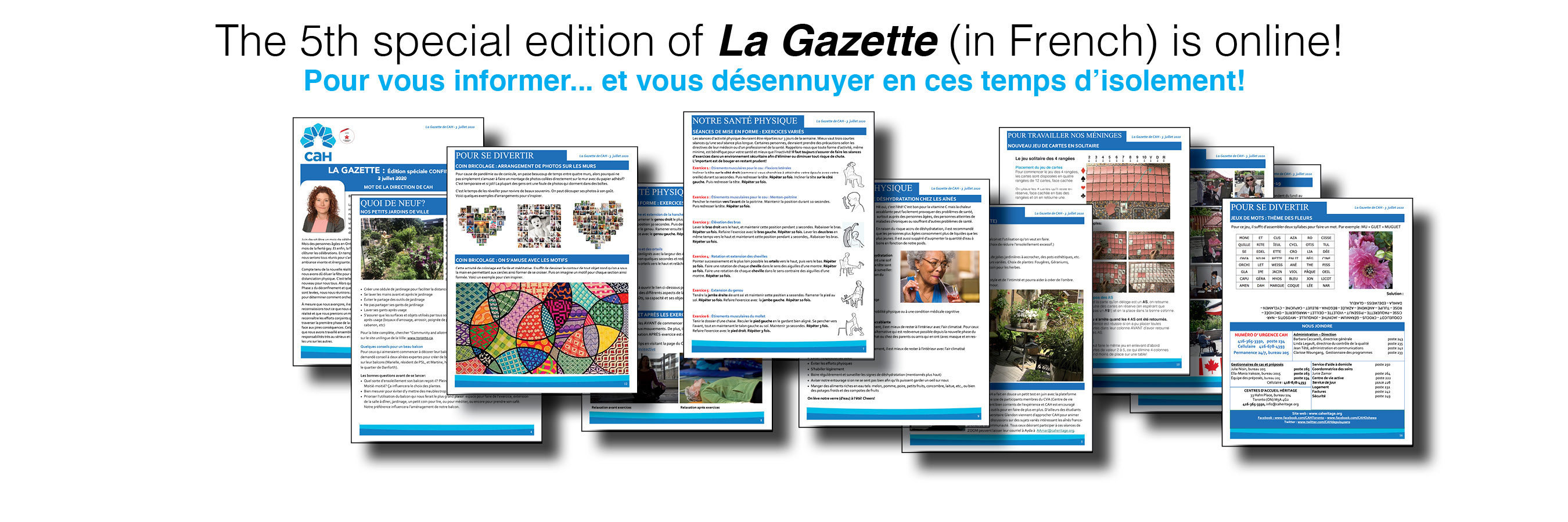 The 5th special edition of La Gazette (in French) is online!