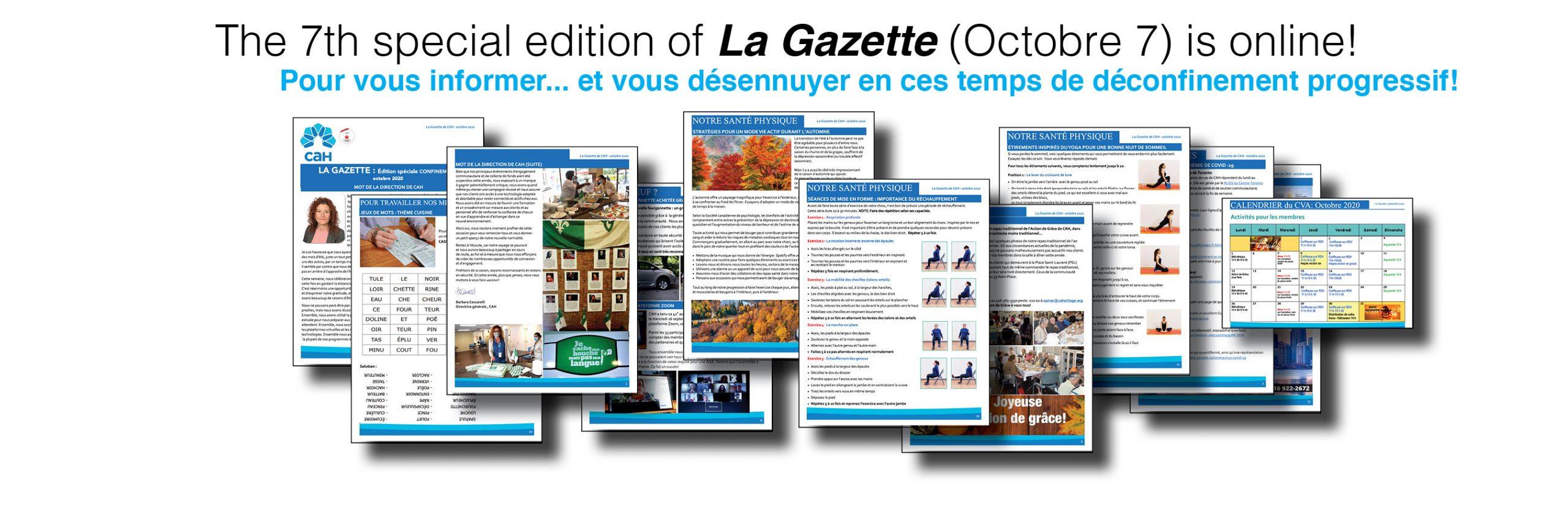 La 7e édition spéciale CONFINEMENT 7 octobre 2020 est en ligne!