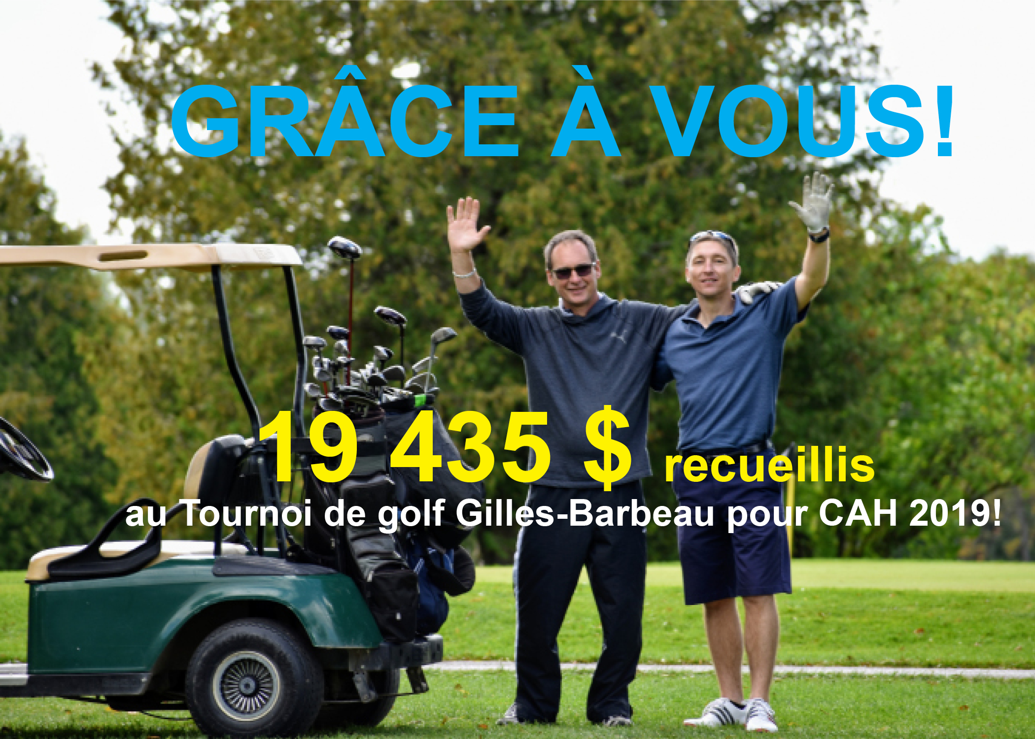 Gilles-Barbeau Golf Tournament for CAH