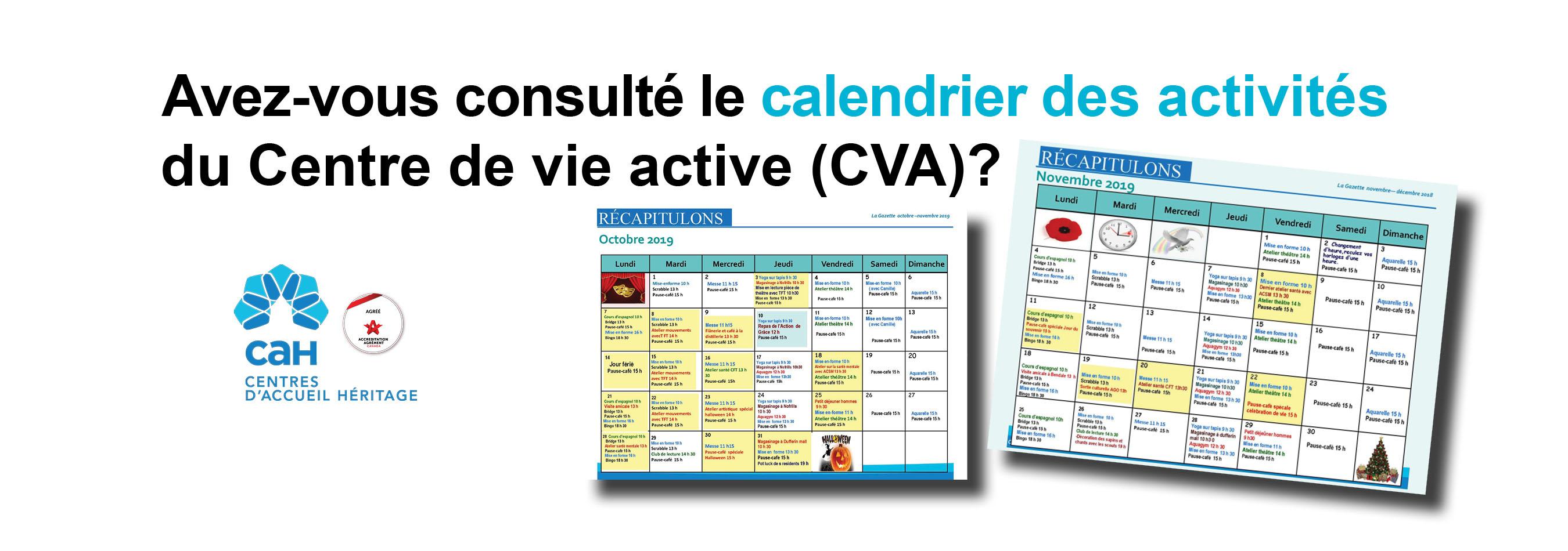 Les activités du Centre de vie active (CVA)