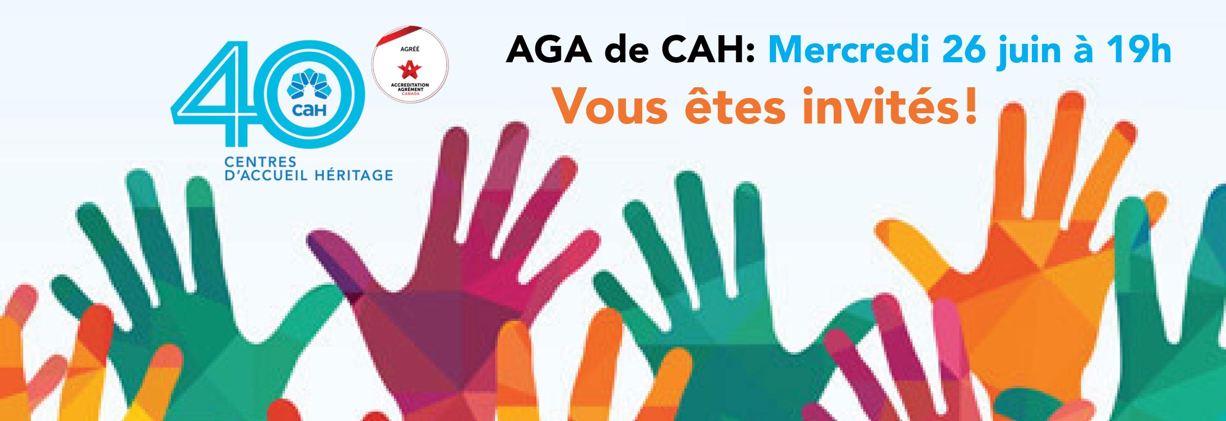 Invitation à l'AGA de CAH